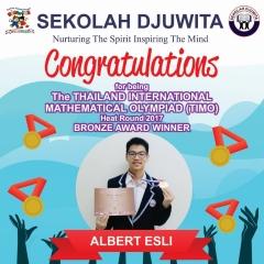 TIMO_Albert Esli - SMP - Bronze Award