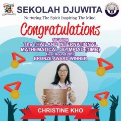TIMO_CHRISTINE KHO - SMA - Bronze Award