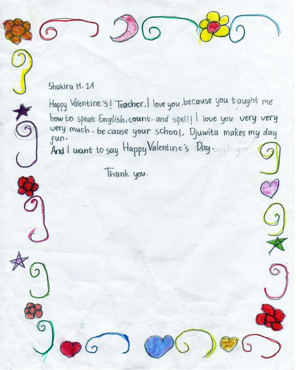 Letter For Djuwita